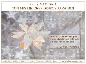 Felicitación Navidad 2021 Sol Vadillo